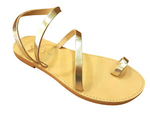 Ancient Greek Style Womens Roman Leather Handmade Sandals Shoes Sparta Gladiator