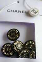 🖤 CHANEL BUTTONS  brooch lot 6   pieces 0,8 inch 20 mm  black Metal