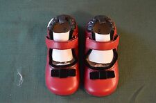 Robeez Tredz Red Black Velvet bow Mary Jane Baby Girls Shoes 12 -16  month NIP