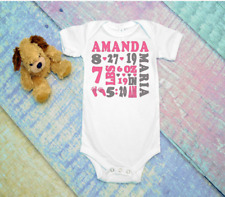Custom Personalized Birth Annoucement Baby One Peice Bodysuit