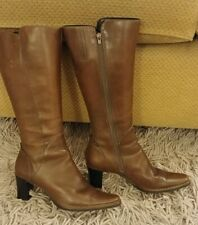 Clarks Ladies Brown Leather Knee High Boots Size 6.5 Never Worn Outside