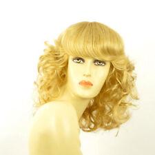 perruque femme mi-longue bouclée blond clair doré ref: célia lg26