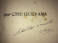 1961 Signed by ERNESTO CHE GUEVARA 1st Edition La Guerra de Guerrillas A Camilo
