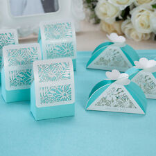 50X Laser Cut Flower Wedding favors Candy boxes Gift Bags Marriage Party Decors