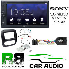 Vauxhall Vivaro 2015 On SONY Bluetooth DAB Car Stereo Black Fascia Kit