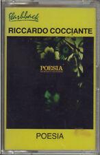 """RICCARDO COCCIANTE """" POESIA """"  MC MUSICASSETTA  SIGILLATA  K7"""