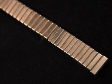 "Jb Champion Vintage Watch Band Scissor Expansion Ladies 10mm 3/8"" Yellow Gold Tn"