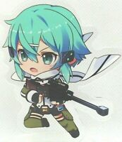 "3"" Sinon Chibi Gun Gale GGO Sword Art Online SAO Acrylic Figure Stand Anime USA"