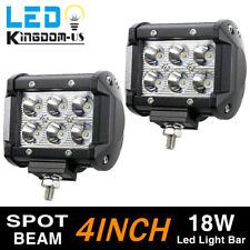 2pcs 4inch 18W LED Work Light Bar 4WD Offroad Spot Fog ATV SUV UTE Driving Lamp