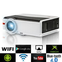 WiFi Android Bluetooth LED Beamer Heimkino Projektor 1080P HD Video 8000 Lumens