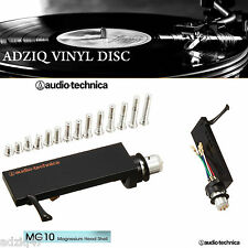 ♫ 1 PORTE CELLULE AUDIO TECHNICA MG 10 MAGNÉSIUM HEADSHELL FIXATION TYPE SME ♫
