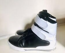 Supra TK Society Mens Shoes Skateboarding Double Strap Ultra Hi UK9 Black/White
