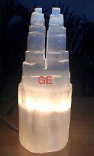 """9""""-10"""" Selenite Lamp Selenite Tower Selenite Two Point Lamp Crystal Chakra."""
