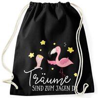 Turnbeutel Flamingo Träume sind zu jagen da Moonworks®