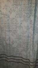 Threshold Shower Curtain Tan Multi Ruffle 72x72 Floral Leaves Used