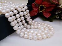 Fashion Women/'s Natural 8-9MM Black Freshwater Cultured Pearl Necklace 31/'/' Long