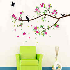 LARGE Birds Blossom Flowers Tree Branch Kids Wall Stickers Art Wall Decal Decor