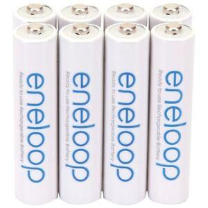 PANASONIC BK-4MCCA8BA eneloop NiMH rechargeable Batteries (AAA; 8 pk)