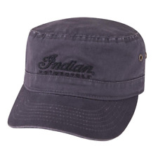 28446f6921111 INDIAN MOTORCYCLE MENS GRAY ARMY LOGO HAT EMBROIDERED BLACK SCRIPT LOGO IMC  OS
