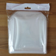 100 High Quality CD DVD Disc Clear Plastic Sleeves Wallet Cover Case 70 Micron