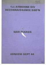 RARE/ARNHEM/65 PAGE PHOTOCOPY/1st AIRBORNE DIVISION RECCE SQD SEPT 44 WAR DIARY