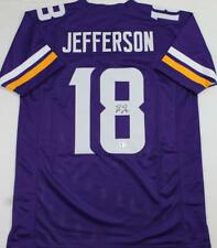Justin Jefferson Autographed Purple Pro Style Jersey - Beckett W Auth *8