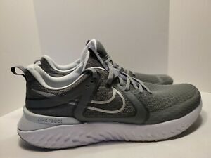 Mens 12 Nike Legend React 2 Running Training Shoes Cool Gray/Silver AT1368-003