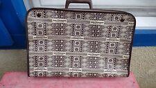 valise air afrique vintage aviation toile marron motifs  40cm de long