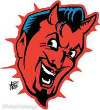 Devil Head Sticker Decal Artist Vince Ray VR10