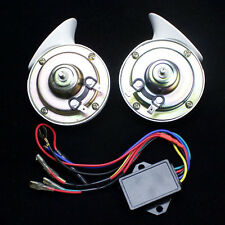 1Pair 12V 110dB Car Auto Vehicle Electric Horns Speaker Snail Horn 8 Sounds tone