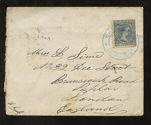 SPAIN 1899 ENVELOPE ALFONSO 8th SOLO...SHIP LETTERS PLYMOUTH