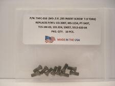 10 Pieces THFC-010 Insert Screw: CO-3007 .. MS-1154 .. PT-543T .. 191.924 ..