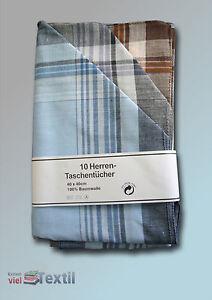 Classic Men's Handkerchiefs Handkerchief Cotton 10 Piece Multicoloured
