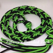 Over And Under Whip Paracord Tack Neon Green And Black