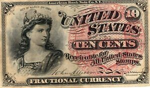 Fr. 1259 Series 1863 United States Ten Cents 10C Fractional Note