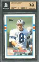 Troy Aikman Rookie Card 1989 Topps Traded #70T Cowboys BGS 9.5 (9.5 9.5 9.5 9.5)