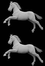 Andrea Miniatures Bare Caballo (un caballo galope 54mm sin pintar KIT solamente)