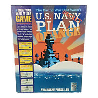 Avalanche Wargame Great War at Sea #4 U.S. Navy Plan Orange UNPUNCHED VG+