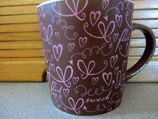 Starbucks Mug 2006 Sweet Flirt Collectible Brown & Pink Hearts Coffee Cup 17oz