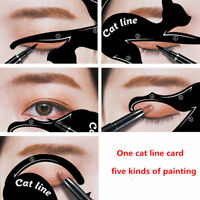 2Pcs Women Cat Line Pro Eye Makeup Eyeliner Stencils Template Shaper Model Tool