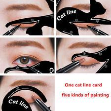 2Pcs Women Cat Line Pro Eye Makeup Eyeliner Stencils Template Shaper Model Tool