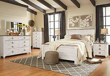 Ashley Furniture Willowton Queen 6 Piece Panel Bed Set  B267-57 Top Seller