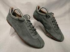 Ecco Women's Green Leather Nubuck Lace Up Flat Shoes Trainers Size UK 7 EU 41