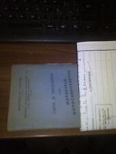libretto documenti MOTO CECCATO 125  + VISURA MANTOVA 1953