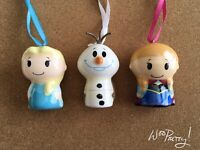 ITTY BITTY Disney Hallmark Frozen Ornament Set Lot of 3 ELSA, ANNA, OLAF - NWT