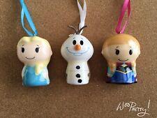 ITTY BITTY Disney Hallmark Frozen Ornament Set Lot of 3 ELSA, ANNA, OLAF - NWT
