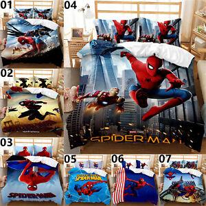 Spiderman Single Double Queen King Super King Bed Quilt Duvet Doona Cover Set