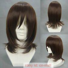 Vampire Knight Yuki Kuran Dark Brown Anime Cosplay Full Wig + free wig cap