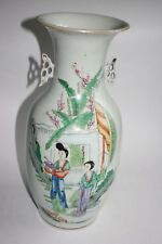 Antique Chinese Porcelain Hand Painted Character Picture &Writing Large Vase