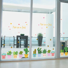 "Window Decals Pot Flower Cactus Vinyl Decor DIY ""Pot Culture"" Wall Sticker Kids"